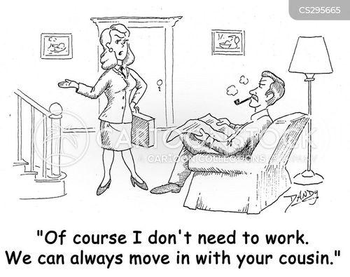 female executives cartoon
