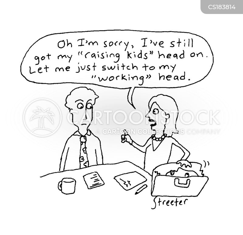 working mums cartoon