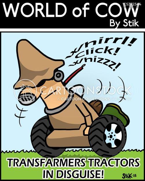 farm equipments cartoon