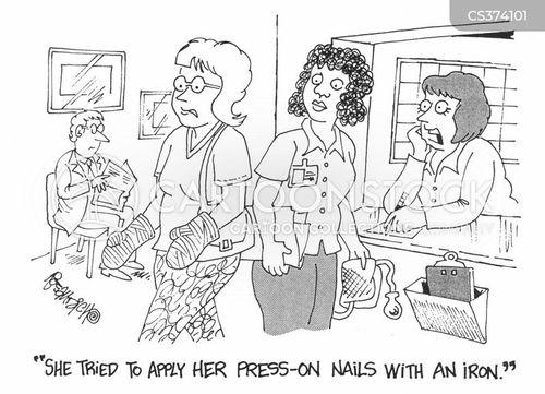 press on cartoon