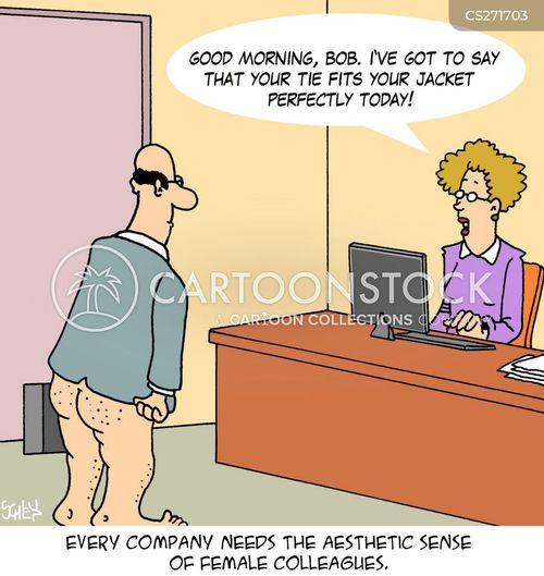 female colleague cartoon
