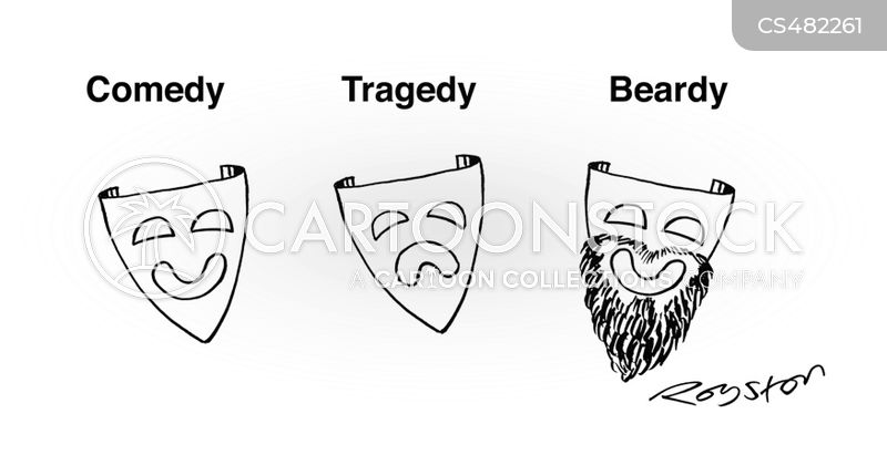 facial-hair cartoon