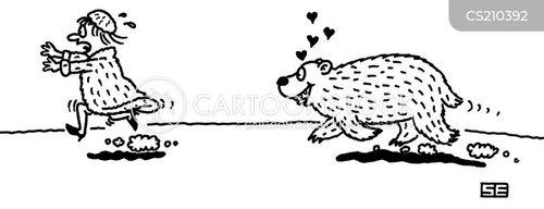 fur wearer cartoon