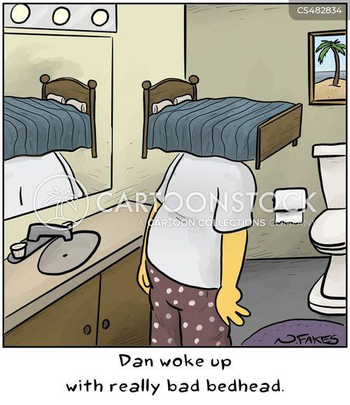 bed-heads cartoon