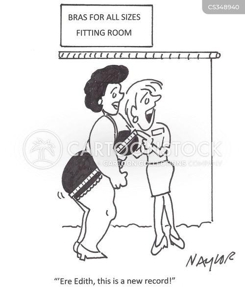 fitting room cartoon