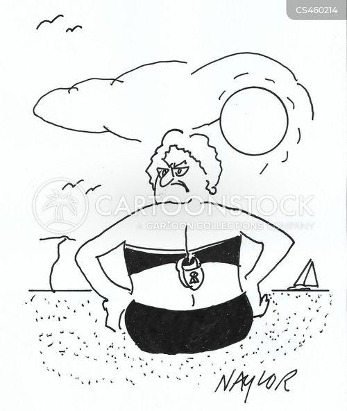 beach clothes cartoon