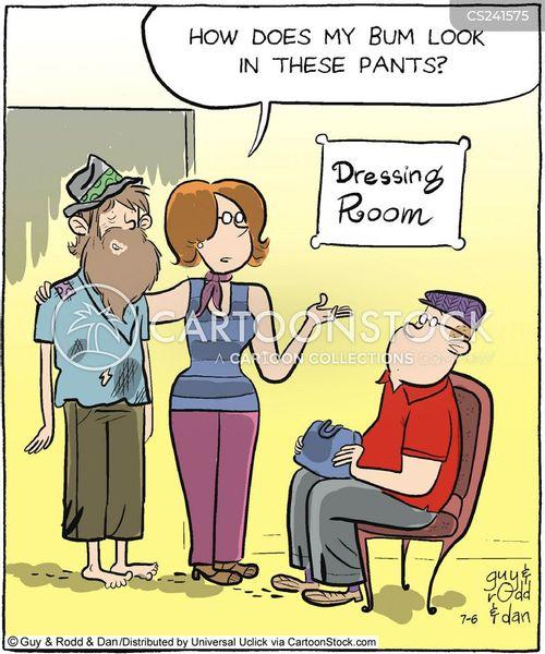 fashion conscious cartoon