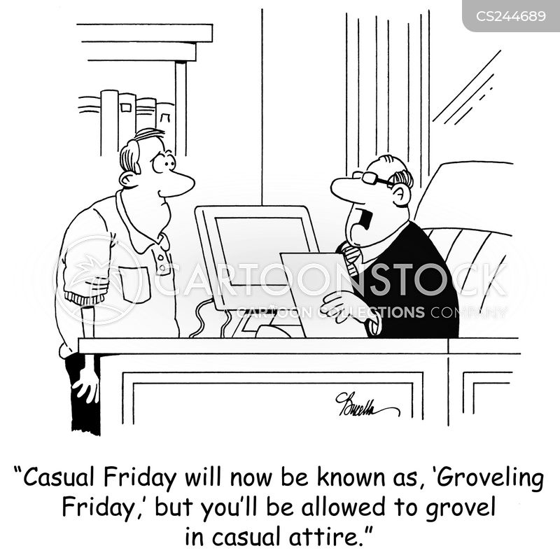 grovelling cartoon