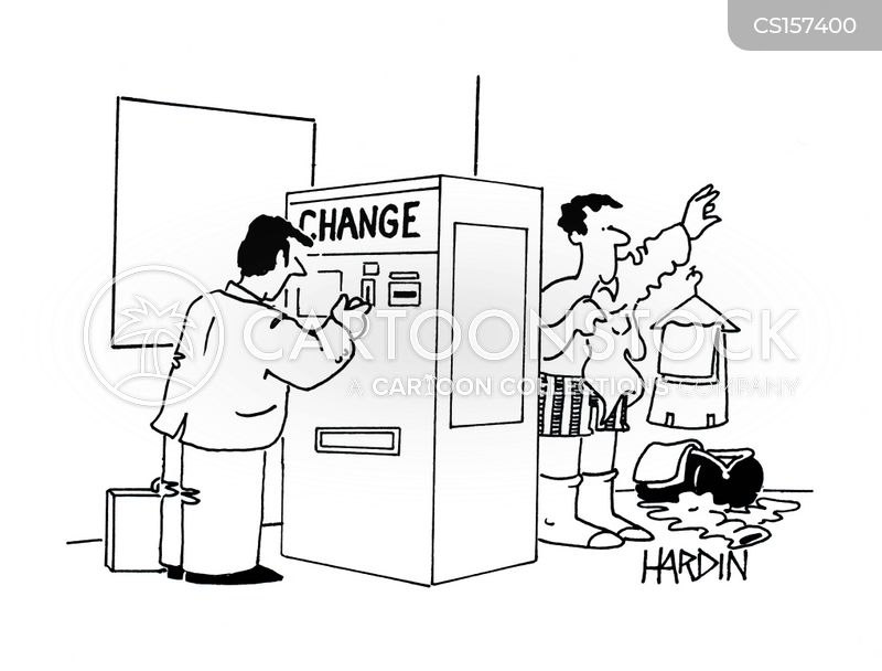 change machine cartoon
