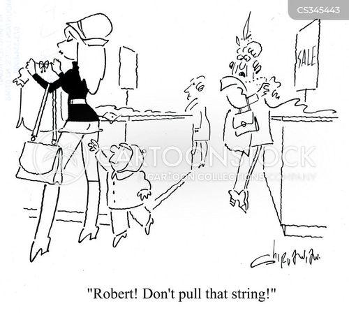 clothes shoppers cartoon