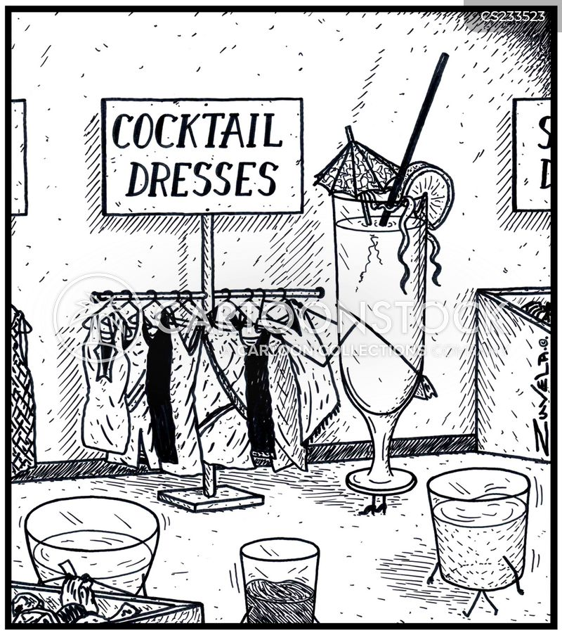 cocktail dress cartoon