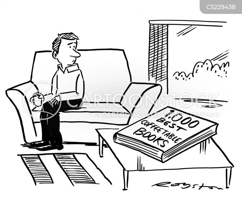 Coffeetable Book Cartoons and Comics funny pictures from CartoonStock
