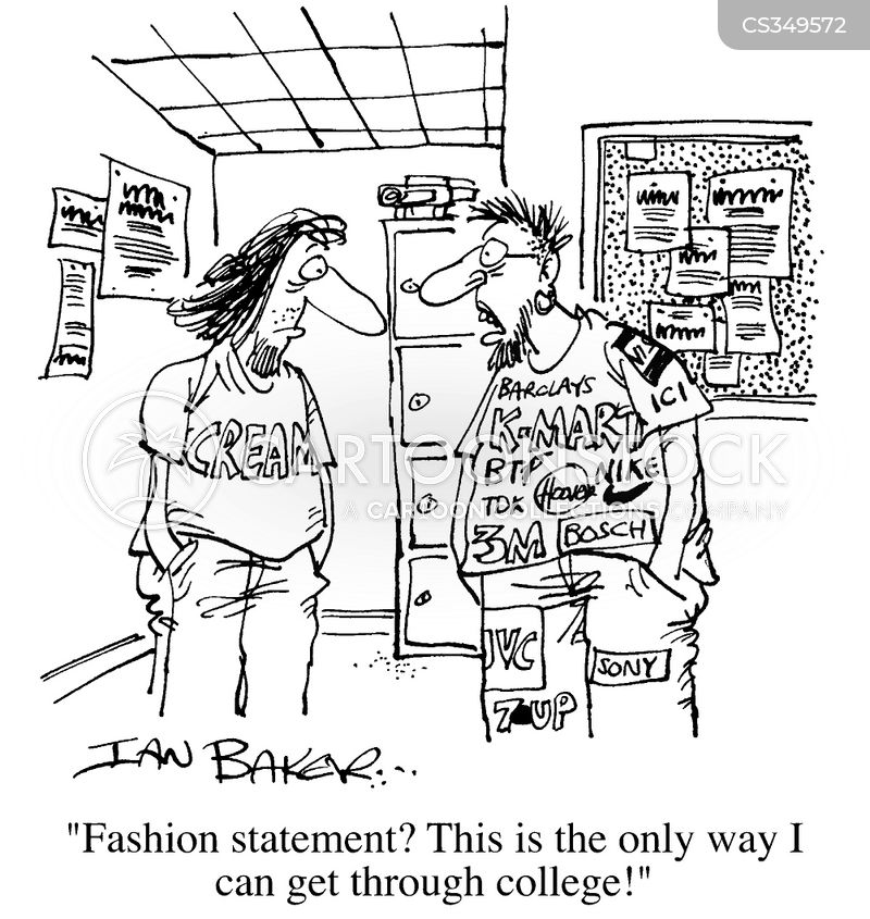 designer labels cartoon