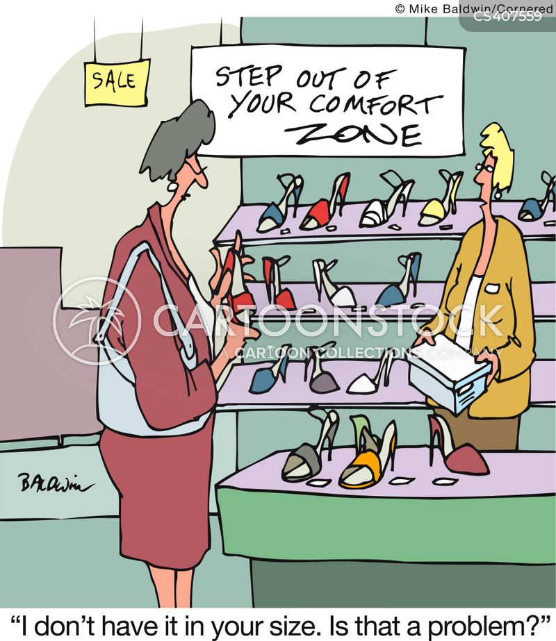 shoe size cartoon