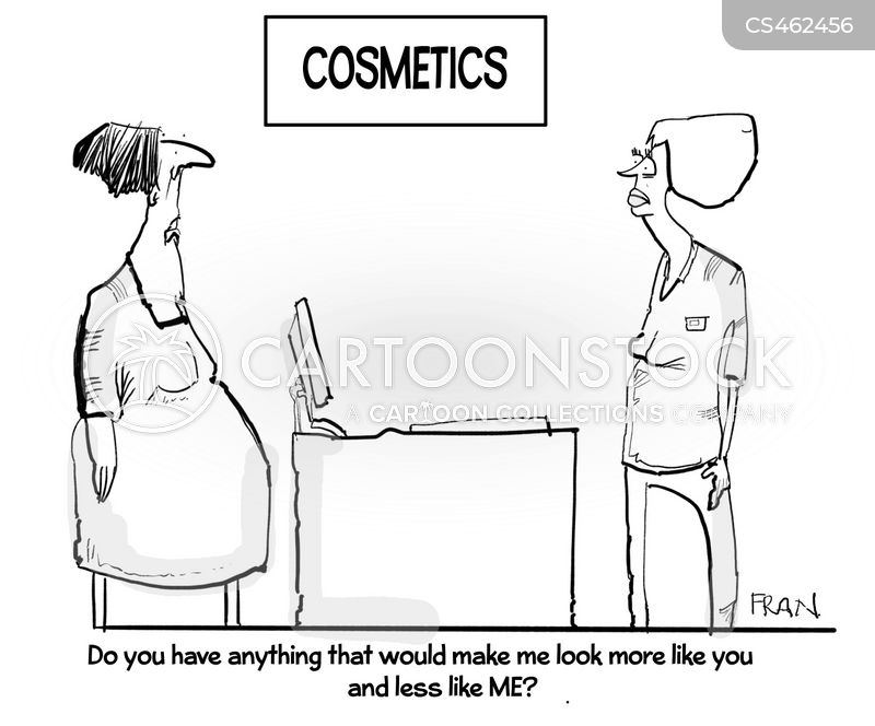 makeup artists cartoon