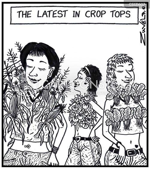 crop tops cartoon