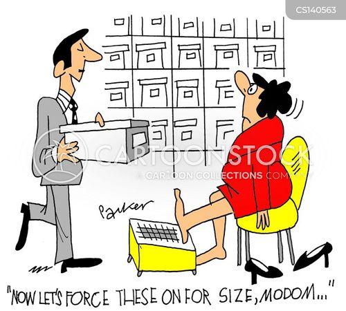 feet size cartoon