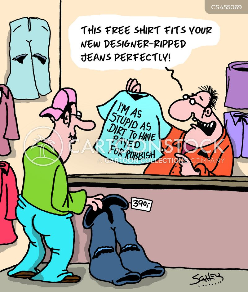 ripped trousers cartoon
