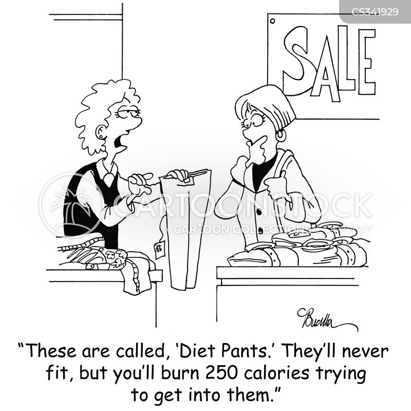 diet jeans cartoon