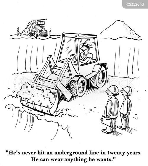 underground line cartoon