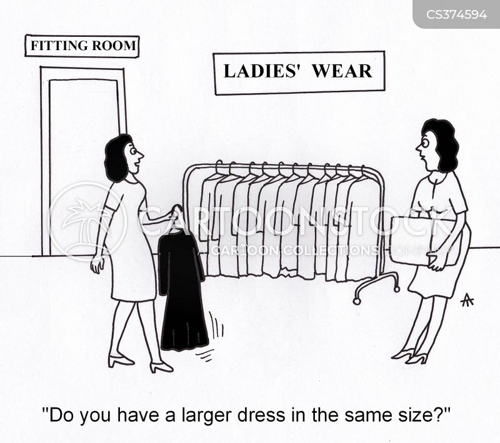 fitting rooms cartoon
