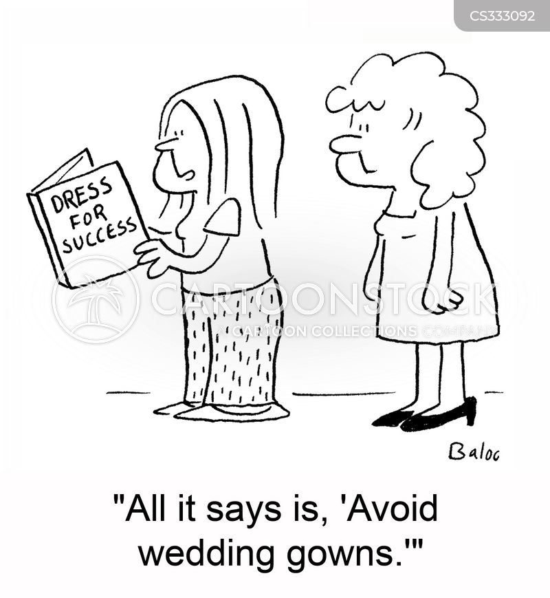 wedding gown cartoon
