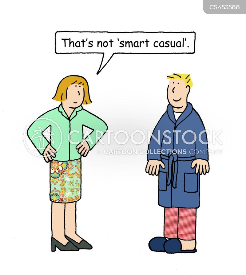 smart/casual cartoon