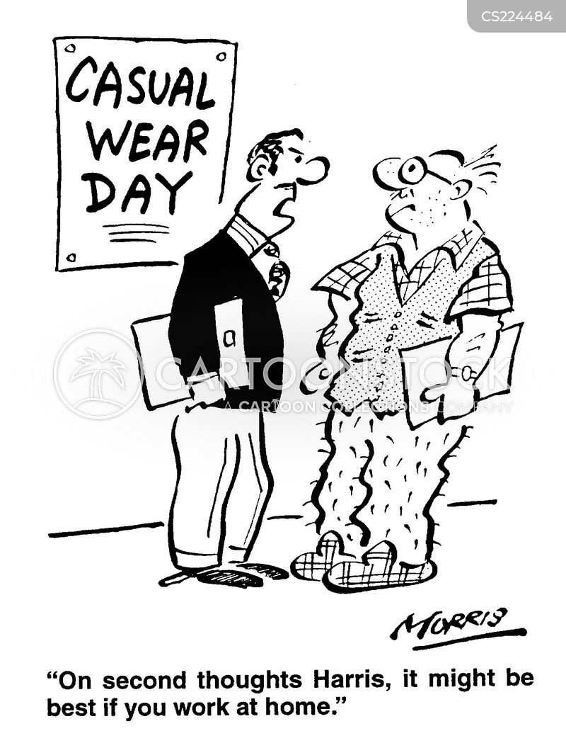 old clothes cartoon