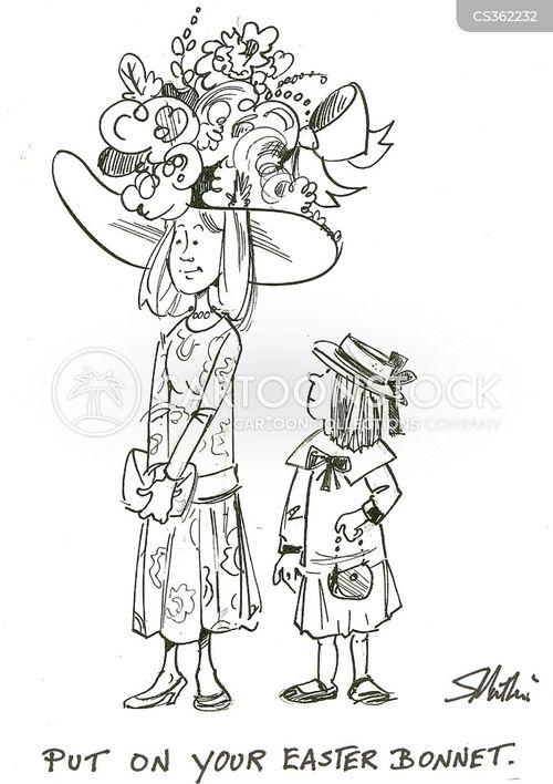easter bonnet cartoon