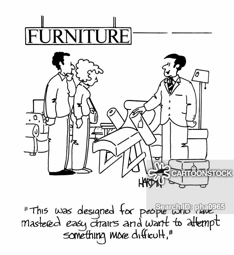 chair shop cartoon