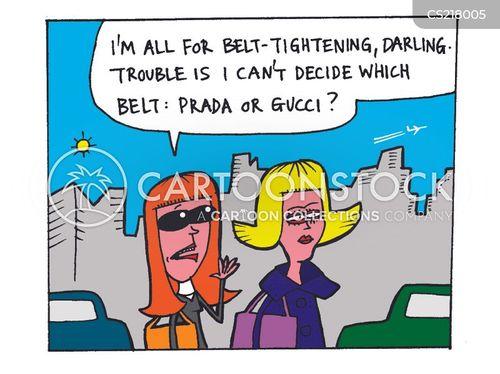 belt tightening cartoon