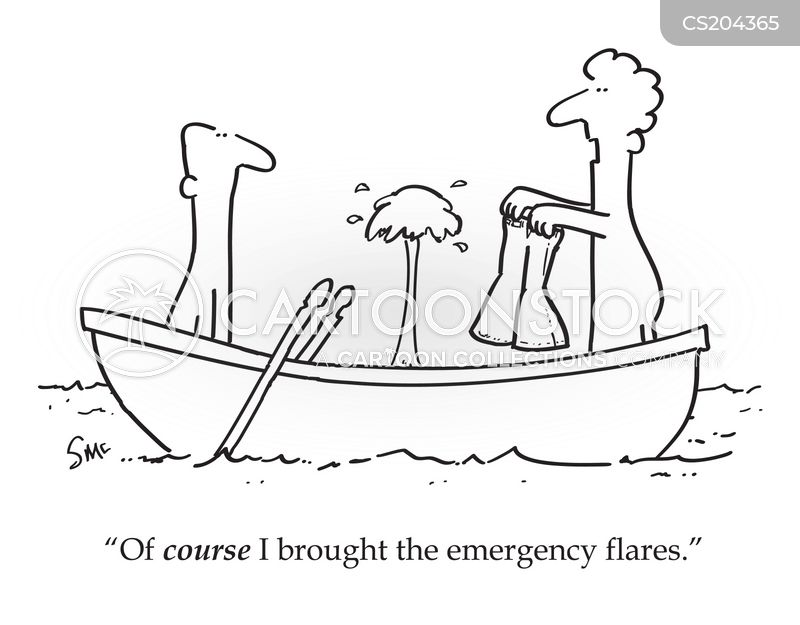 sinking boats cartoon