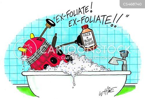 exfoliate cartoon
