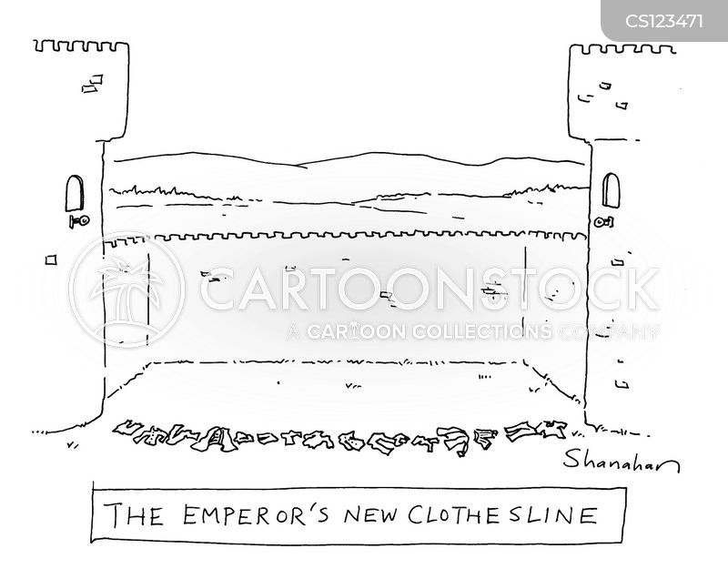 clothes lines cartoon