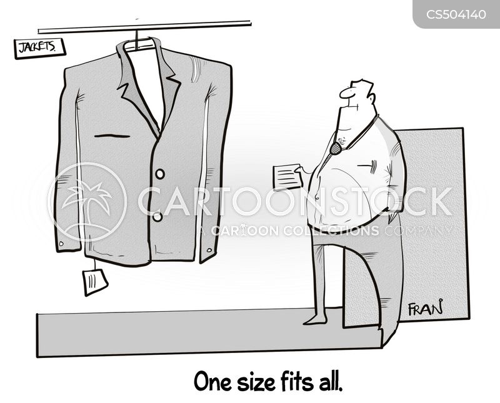 one size cartoon