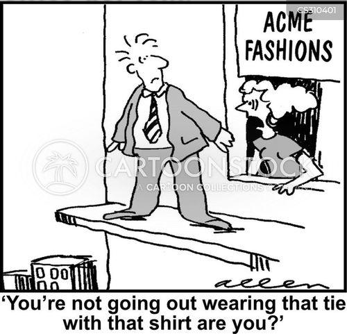 shirt and tie cartoon