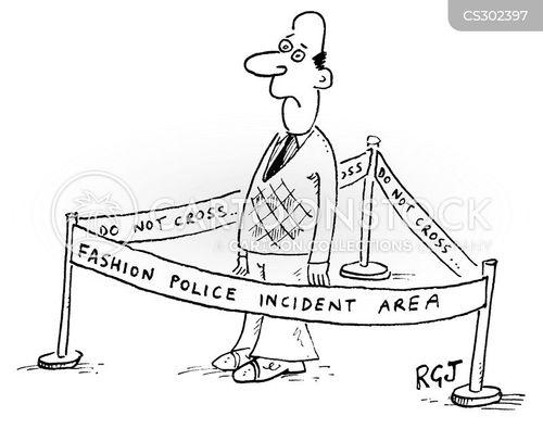 police line cartoon
