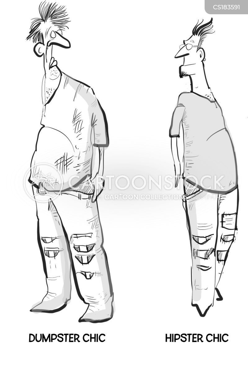 ripped jeans cartoon