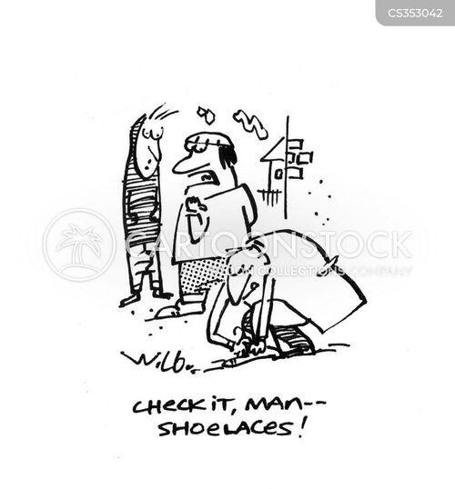 shoe laces cartoon