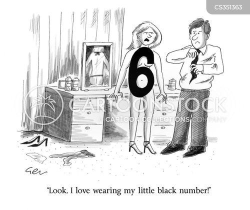 black dress cartoon