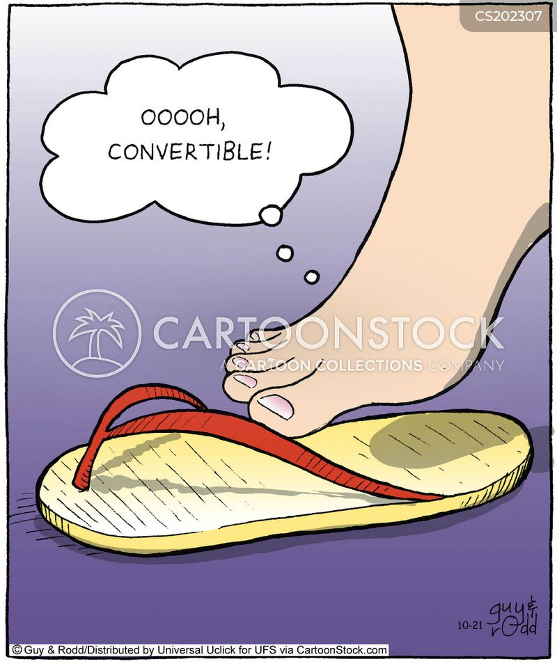 sandal cartoon