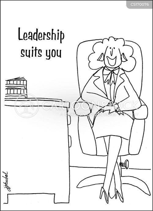 self-confident cartoon