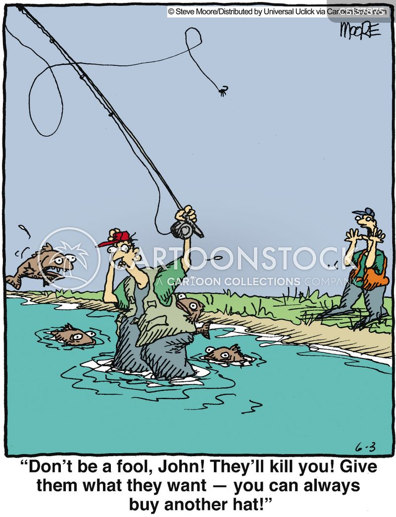 Fishing Hats Cartoons and Comics - funny pictures from CartoonStock d916b32f699