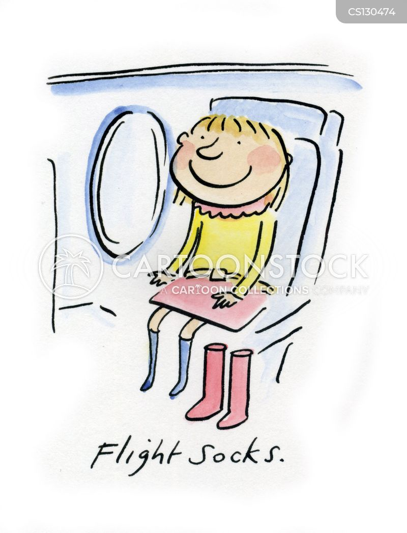 flight sock cartoon
