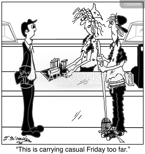 dress-down cartoon