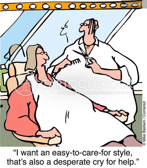 hair salon cartoon
