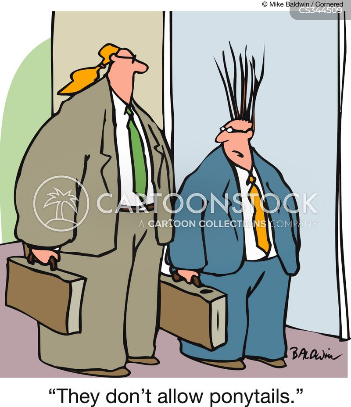 ponytail cartoon