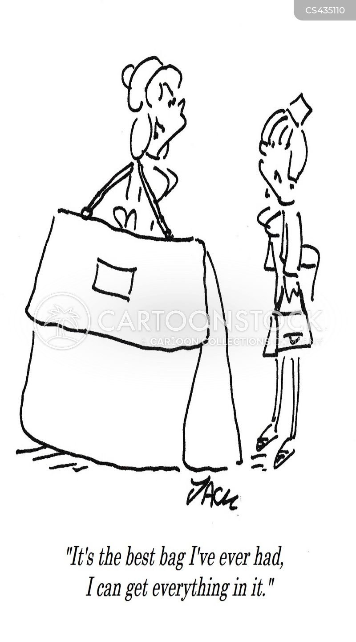 big bags cartoon