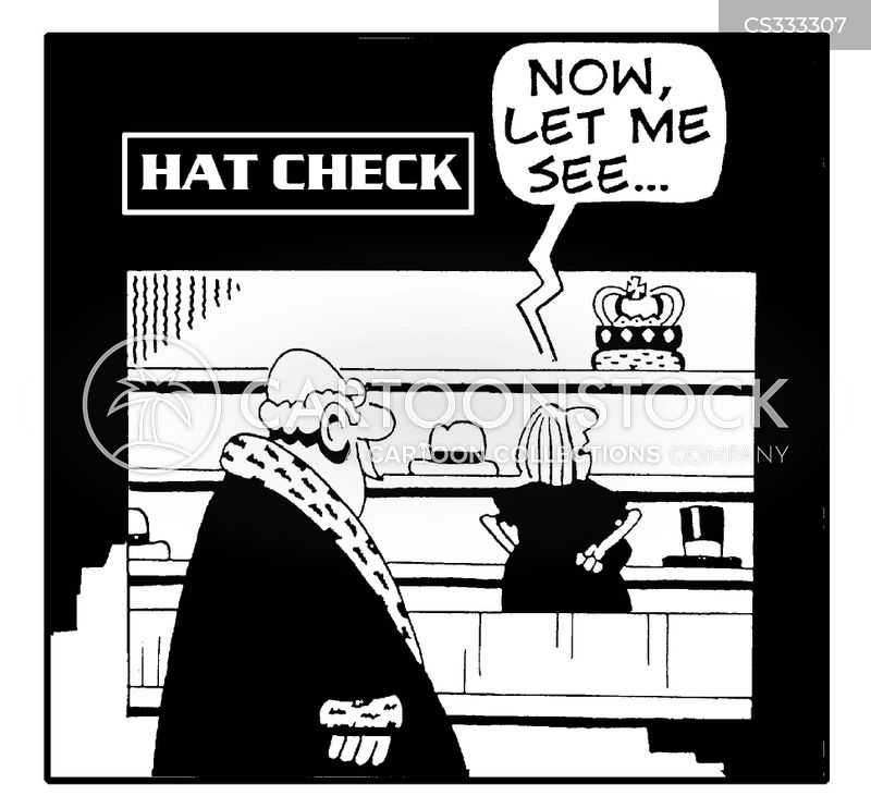 coat check cartoon