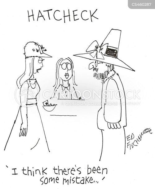 hat-check cartoon